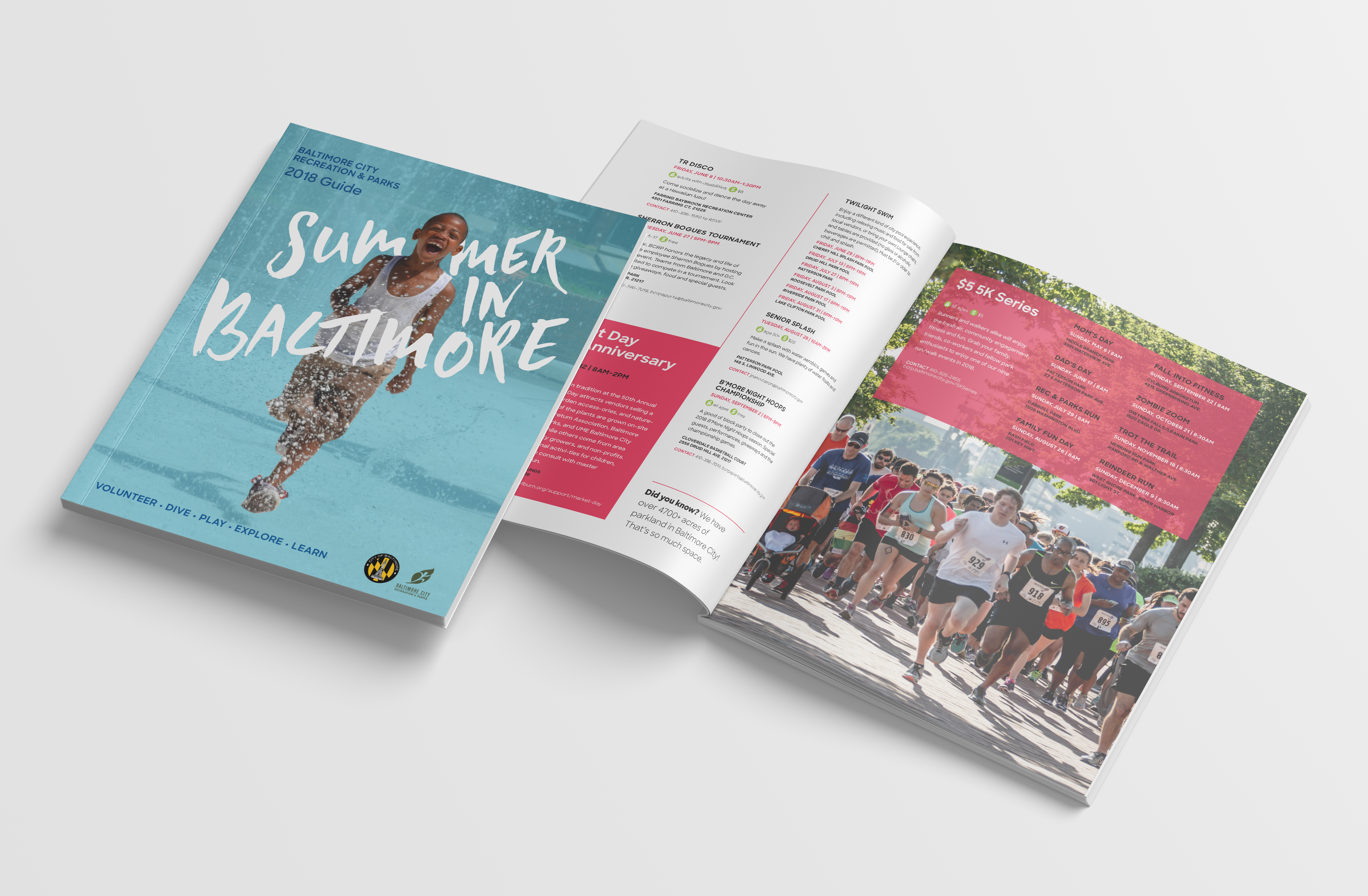 summer guide cover and spread